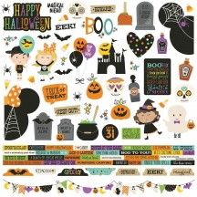 "Simple Stories Say Cheese Halloween 12""x12"" Combo Element & Word Stickers 11001"