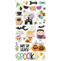 Simple Stories Say Cheese Halloween Self Adhesive Chipboard Shape Stickers 11018