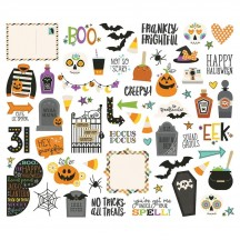 Simple Stories Say Cheese Halloween Bits & Pieces Die-Cut Cardstock Ephemera 11019