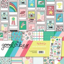 "My Mind's Eye Good Vibes 12""x12"" Double-Sided Paper & Accessories Kit PVIB110"