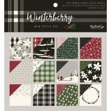 "My Mind's Winterberry 6""x6"" Double-Sided Christmas Paper Pad WTB110"