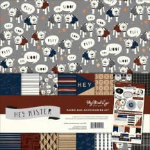 """My Mind's Eye Hey Mister 12""""x12"""" Double-Sided Paper & Accessories Kit MAN111"""