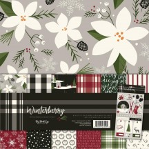 "My Mind's Winterberry 12""x12"" Double-Sided Christmas Paper & Accessories Kit WTB111"