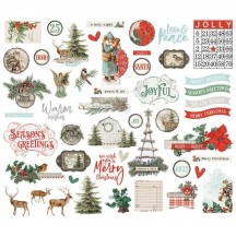 Simple Stories Simple Vintage Country Christmas Bits & Pieces Die-Cut Cardstock Embellishments 11321