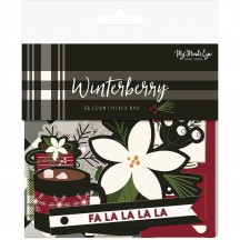My Mind's Eye Winterberry Mixed Bag Die-Cut Cardstock Christmas Ephemera Pieces WTB116