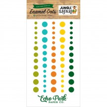 Echo Park Jungle Safari Enamel Dots - green, blue, orange, yellow JS117028