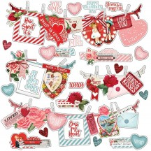 "Simple Stories Simple Vintage My Valentine 12""x12"" Banner Cardstock Stickers 11802"