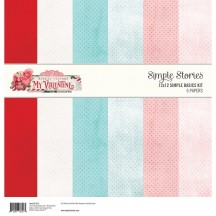 "Simple Stories Simple Vintage My Valentine Simple Basics 12""x12"" Paper Kit 11815"