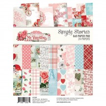 "Simple Stories Simple Vintage My Valentine 6""x8"" Double-Sided Paper Pad 11822"