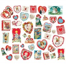 Simple Stories Simple Vintage My Valentine Card Ephemera Bits & Pieces Die-Cut Cardstock Embellishments 11826