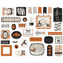 Carta Bella Halloween Market Ephemera Die Cut Cardstock Pieces HM121024