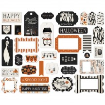 Carta Bella Halloween Market Frames & Tags Ephemera Die Cut Cardstock Pieces HM121025