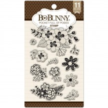 Bo Bunny Pocket Full Of Posies Clear Stamp Set 12105078