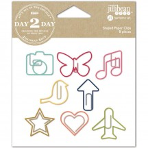 Jillibean Soup Day 2 Day Planner Shaped Paper Clips - Camera 1216