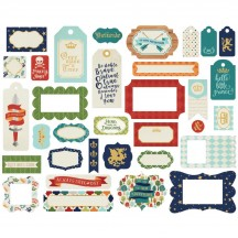 Echo Park Once Upon a Time Prince Tags & Frame Ephemera Die Cut Cardstock Pieces OUB123021