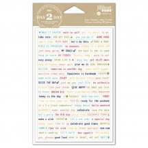 Jillibean Soup Day 2 Day Planner Clear Stickers - Note To Self 1245