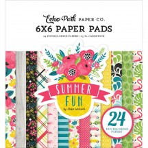 "Echo Park Summer Fun 6""x6"" Double-Sided Paper Pad 24 Sheets SF125023"