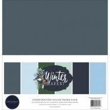 "Carta Bella Winter Market 12""x12"" Solids Paper Kit WM126015"