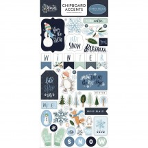 Carta Bella Winter Market Self Adhesive Chipboard Accents Stickers WM126021
