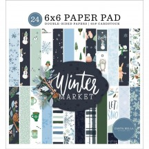 "Carta Bella Winter Market 6""x6"" Double-Sided Paper Pad WM126023"