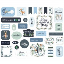 Carta Bella Winter Market Ephemera Die Cut Cardstock Pieces WM126024