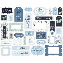 Carta Bella Winter Market Frames & Tags Ephemera Die Cut Cardstock Pieces WM126025