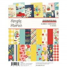 "Simple Stories Summer Farmhouse 6""x8"" Double-Sided Paper Pad 12614"