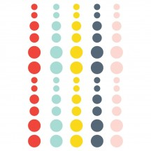 Simple Stories Summer Farmhouse Enamel Dots red aqua yellow blue pink 12620