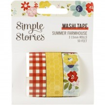 Simple Stories Summer Farmhouse Washi Tape 3 Roll Pack 12621