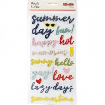 Simple Stories Summer Farmhouse Foam Phrase Stickers 12622