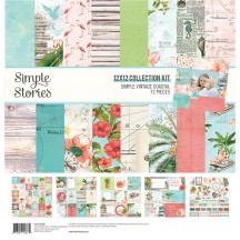 "Simple Stories Simple Vintage Coastal 12""x12"" Collection Kit 12700"