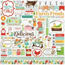 "Carta Bella Farm to Table 12""x12"" Die-cut Cardstock Element Stickers FT127014"