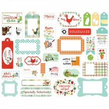 Carta Bella Farm to Table Frames & Tags Ephemera Die Cut Cardstock Pieces FT127025