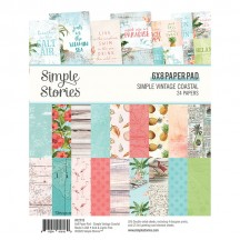 "Simple Stories Simple Vintage Coastal 6""x8"" Double-Sided Paper Pad 12715"