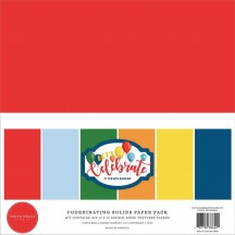 "Carta Bella Let's Celebrate 12""x12"" Solids Paper Kit CB129015"