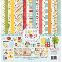 "Echo Park Happy Summer 12""x12"" Collection Kit HS105016"
