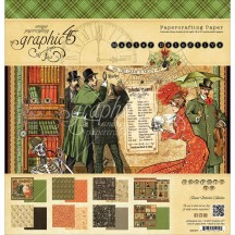 """Graphic 45 Master Detective 12""""x12"""" Paper Pad 24 sheets 4501571"""