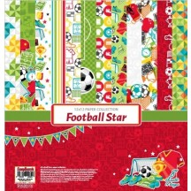 "ScrapBerry's Football Star 12""x12"" Paper Collection"