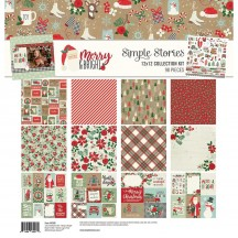 "Simple Stories Merry & Bright Christmas 12""x12"" Collection Kit 10306"