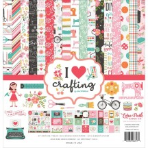 "Echo Park I Heart Crafting 12""x12"" Collection Kit HC169016"