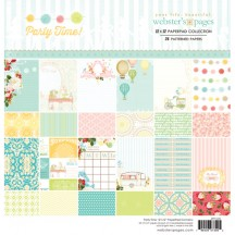 """Webster's Pages Party Time! 12""""x12"""" Collection Paper Pad PP1220"""