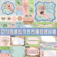 "Bo Bunny Butterfly Kisses 12""x12"" Phrase & Element Combo Stickers 19803527"