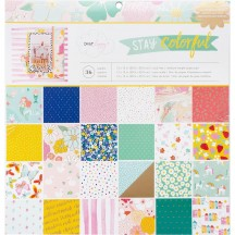 "American Crafts Dear Lizzy Stay Colorful 12""x12"" Paper Pad 346501"