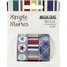 Simple Stories Bro & Co Washi Tape 3 Roll Pack 13019