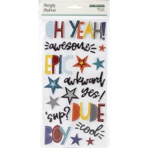 Simple Stories Bro & Co Foam Phrase Stickers 13022