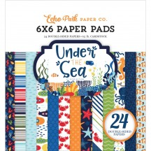 """Echo Park Under The Sea 6""""x6"""" Double-Sided Paper Pad 24 Sheets US131023"""