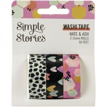 Simple Stories Kate & Ash Washi Tape 3 Roll Pack 13119