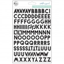Pinkfresh Studio Simple & Sweet Black Mini Puffy Alpha Stickers PFSS401318