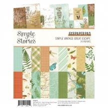 "Simple Stories Simple Vintage Great Escape 6""x8"" Double-Sided Paper Pad 13215"