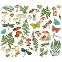 Simple Stories Simple Vintage Great Escape Foliage Bits & Pieces Die-Cut Cardstock Ephemera 13218